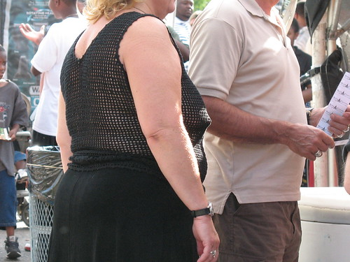 Detroit Cityfest 2008 (MarkinDetroit) Tags: fashion naked scary mesh top ugly stupid nudity piercings braless