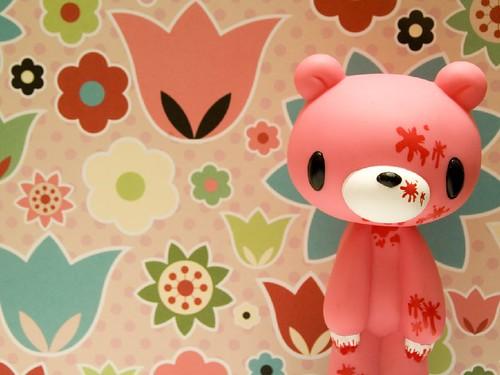 Gloomy Bear Wallpaper by p!ng.
