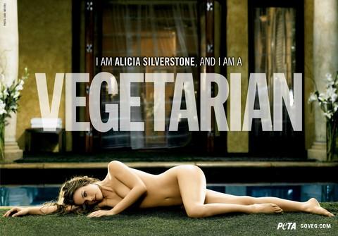 Alicia Silverstone - PETA vegetarian campaign