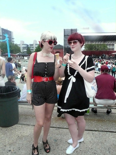 me and lou at mccarren pool