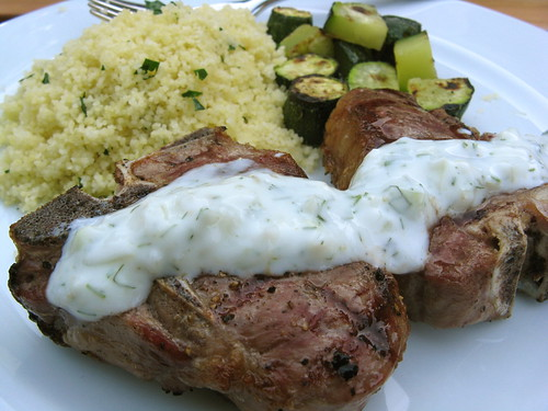 Grilled Lamb with Fennel Tzatziki