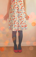polka dots (miss sundress) Tags: pink blue red shoes pumps dress polka dots sundress