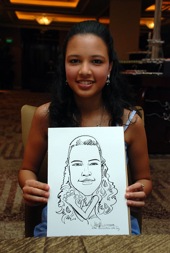 caricature live sketching for wedding dinner 120708  - 39