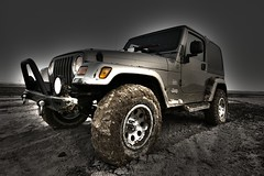 Jeep! ([HKR]) Tags: road apple car wheel sand driving ride jeep mud offroad 4x4 action traction off tires adventure event experience maintenance land april vehicle kuwait roads 2008 discovery depth challenge throwing surfs wrangler axle throwin hamoud zour hkr alzoor zoor alrubaian alzour