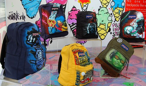 Airbrush Painted Jansport Bags