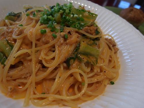 spaghetti tomato cream sauce