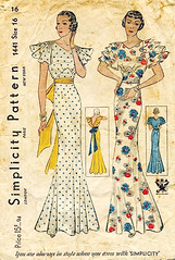 simplicity gown 1441 (carbonated) Tags: vintage 1930s dress sewing patterns simplicity gown fancydress partydress