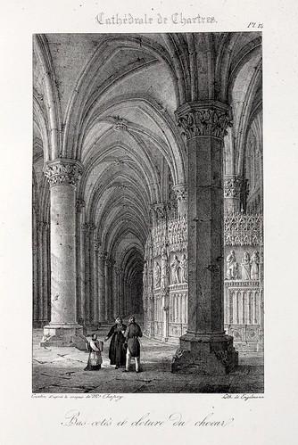 Chartres12- Lados bajos laterales y clausura del coro