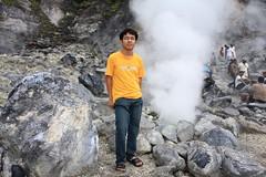 Pipi at Kawah Domas (Domas Crater) in Tangkuban Perahu, Bandung , Indonesia.
