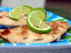 grilled chicken with fresh lime