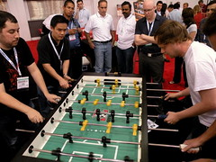 Google versus Yahoo Foosball Match