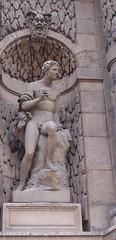 Pan (Tiggrx) Tags: sculpture paris male statue nude greek pan mythology jardinduluxembourg fontainemedicis augusteottin
