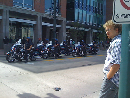 Motorcycle police at the DNC