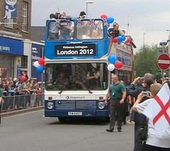At last the bus arrives! (janet7r) Tags: bus olympics goldmedal stagecoach mansfield rebeccaadlington
