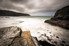 Where Seagulls Dare to Tread (jasontheaker) Tags: ocean sea danger movement cornwall waves cliffs atlantic surfers drama swell landscapephotography longexposure jasontheaker stagnes 10stopfilter