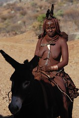 Himba Woman on a donkey. (Triss16) Tags: woman donkey tribe namibia himba ovahimba