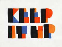 8.31.08 - Keep It Up (invisibleElement) Tags: color typography sketch type marker sharpie invisibleelement sketchaday