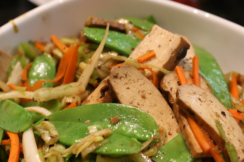 Bean Curd and Veggies with black Bean
