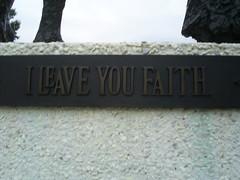 I Leave You Faith