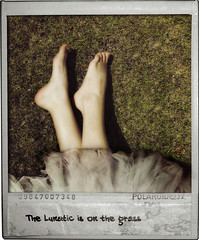The Lunatic is on the Grass (Nika Fadul) Tags: feet grass polaroid skirt fairy grama ps lunatic mnicafadul nikafadul