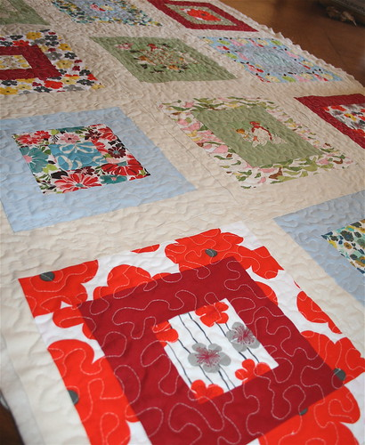 Birds & Blooms quilted