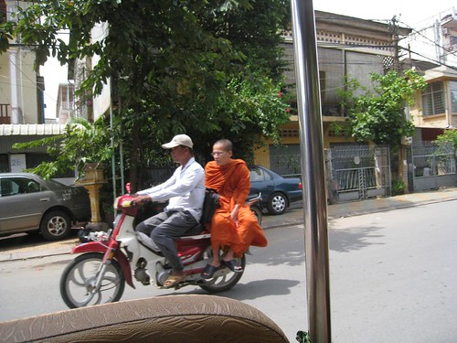 Monk on a bike