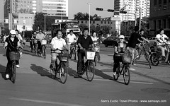 IMG_7706 (Sam's Exotic Travels) Tags: street capital scene bicycles prc chinas sams shijiazhuang travelphotos samsays hebeiprovince samsexotictravelphotos exotictravelphotos samsayscom jebeo northchinaplain