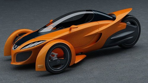 Eighteenth futuristic car photo