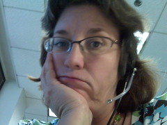 Conference call self portrait