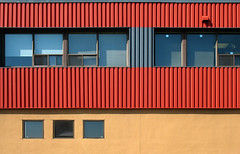(Torganiel) Tags: red yellow architecture facade industrial geometry montreal siding 2d a630 griffintown torganiel