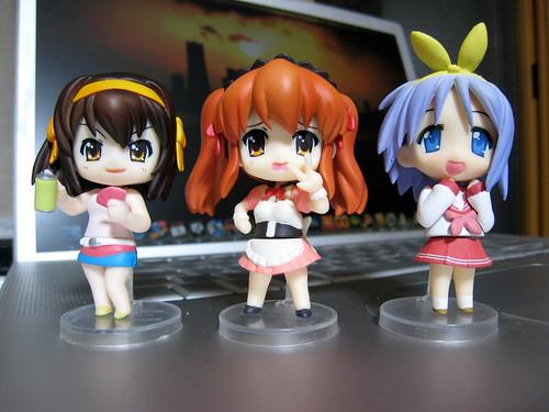 les Nendoroids Petit : Haruhi, Mikuru et Tsukasa