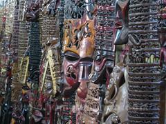 Sección de máscaras de la tienda de la cooperativa Akamba