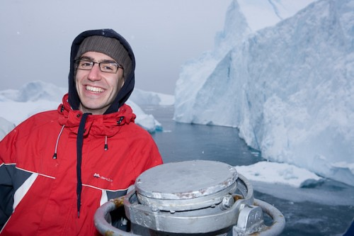 Shlomo taking part in the climate change expedition in Greenland