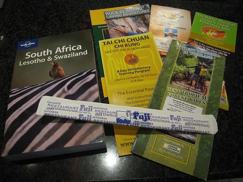 Reading material - Chiang Mai brochures and LP SA