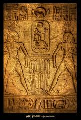 AbuSimbel 4 (Javier Melero Sebastin) Tags: africa stone temple arquitectura arte tomb egypt unesco cairo ruinas tumbas desierto oriente egipto hdr antiguo ramsesii dios  abusimbel piedra humanidad patrimonio frica construcciones faraones jeroglfico  montaapura