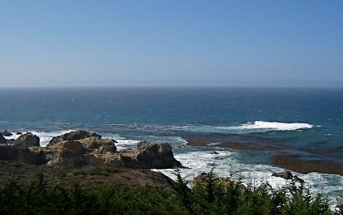 Windy day, cliffs of Big Sur