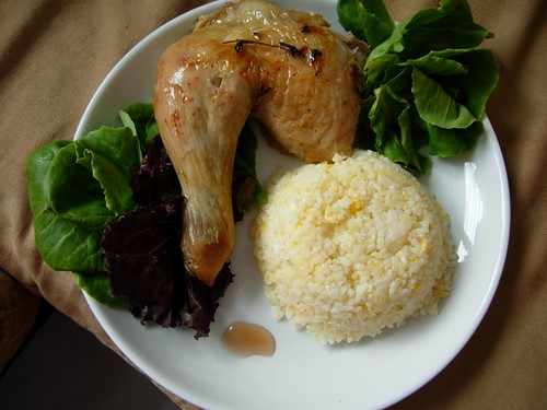 roast chicken with butter rice