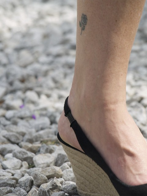 Dainty Flower Ankle Tattoo
