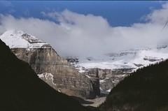 Lake Louise (potatomonkey) Tags: glaciers lakelouise albertacanada banffnationalpark canadianrockies colorcontrast lakelouiseinn