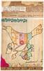 Candied Sweet ~ Original Patchwork Bird Collage (ms_mod) Tags: old pink bird art collage vintage paper recipe book design aqua lace antique mixedmedia ephemera etsy patchwork measuringtape dollface ledger dollfacedesign