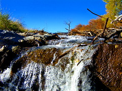 The Littlest Fall!! (mountainbeliever) Tags: autumn water colors scenery colorado bluesky waterfalls valley rivers rockymountains streams flowing fourcorners freefall southwestcolorado americansouthwest coloradoscenery