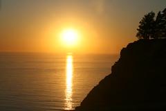 Sunset At Big Sur (DeanPeterson) Tags: ocean california beach coast highway roadtrip pch theone
