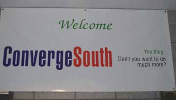 Converge South Sign