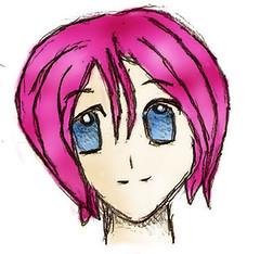 (a3fene_q8) Tags: pink anime love girl cartoon manga toon