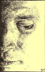 Self (Yelnoc) Tags: shadow portrait selfportrait eye art moleskine face contrast self charcoal moly