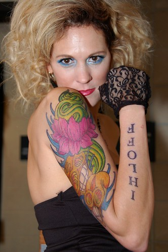 Sharpie Tattooed Model. This tattoo is entirely sharpie.took the artist