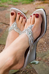 Wedding Feet (dart5150) Tags: wedding feet me cupcakes shoes toes sandals sparkle sliver pedicure bling paintedtoes shoeaddiction