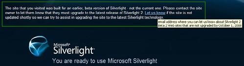 Silverlight Is Not Backward Compatible.
