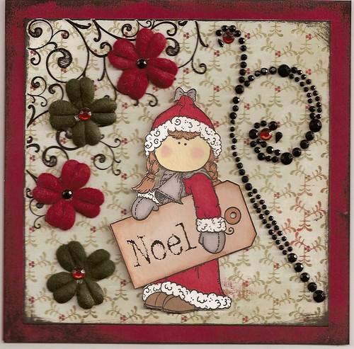 Hänglar christmas card - touch of gothic