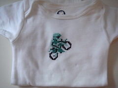Excitebike onesie (benjibot) Tags: clothing crossstitch crafts videogames nes onesie excitebike